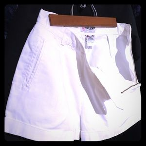 GUESS - Vintage High Waist Short, White 3 pockets